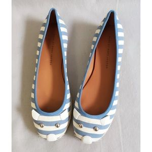NIB Marc by Marc Jacobs Stripe Canvas Mouse Flat